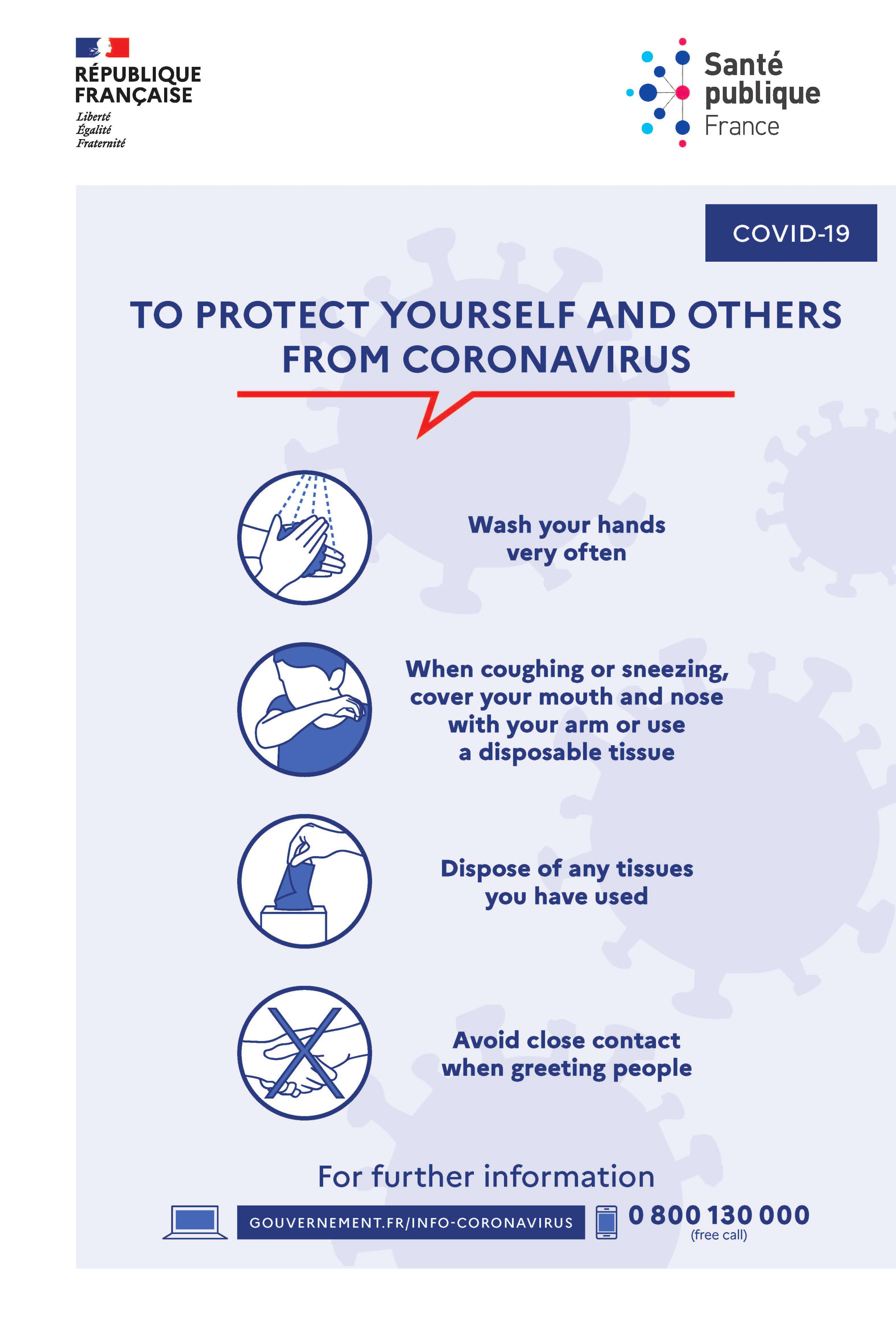 Information to protect yourself and others from coronavirus