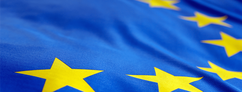 An european flag, representing the fact that the European Commission finances some ENSTTI trainings