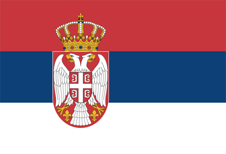 Flag of Serbia, one INSC partner country involved in training and tutoring projects with ENSTTI