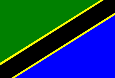 Flag of Tanzania, one INSC partner country involved in training and tutoring projects with ENSTTI